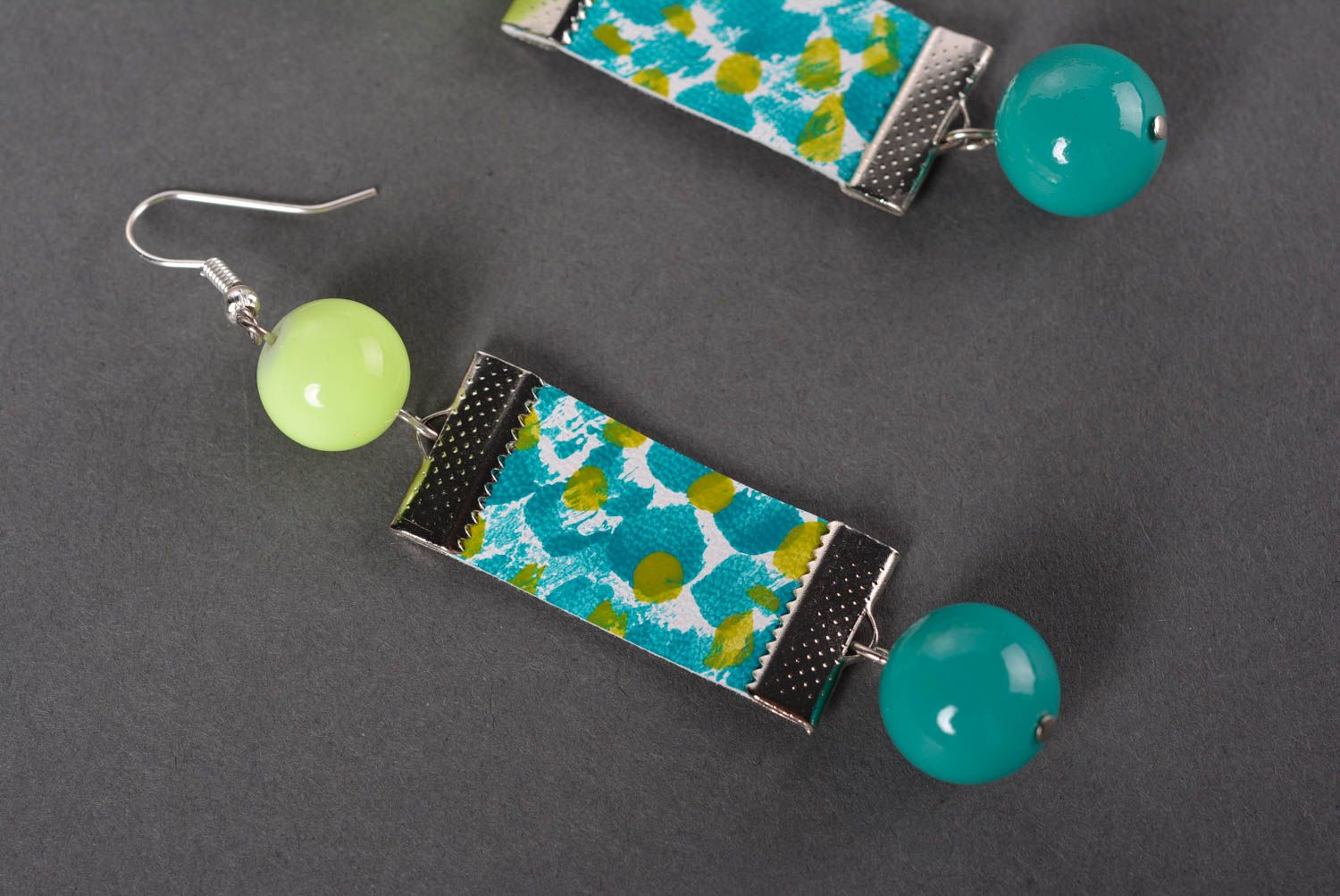 Stylish handmade leather earrings costume jewelry designs gifts for her photo 2