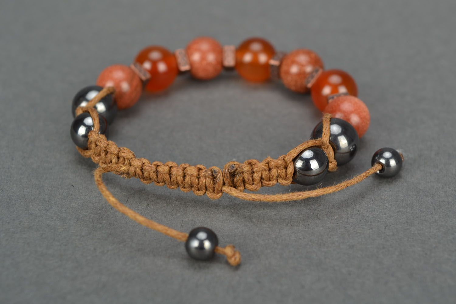 Wrist bracelet with natural stones photo 4