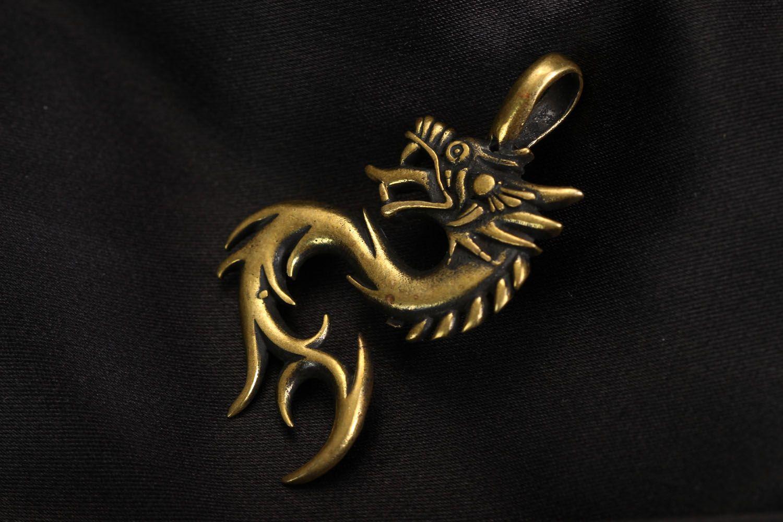 Bronze pendant Dragon photo 1