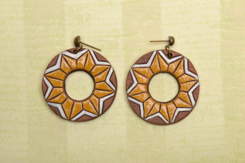 Ceramic earrings photo 1