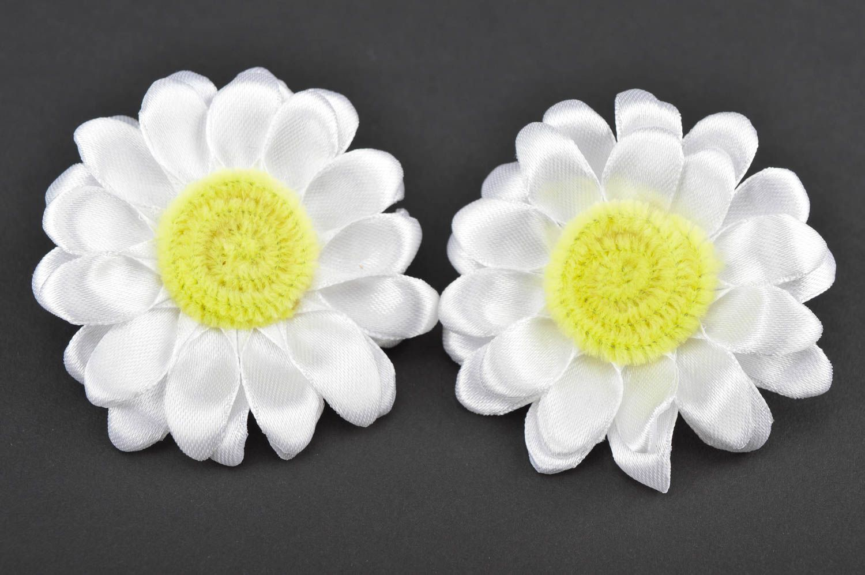 Beautiful handmade hair scrunchie textile flower hair tie trendy hair gift ideas photo 4