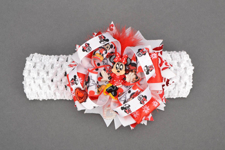 White and red headband photo 1
