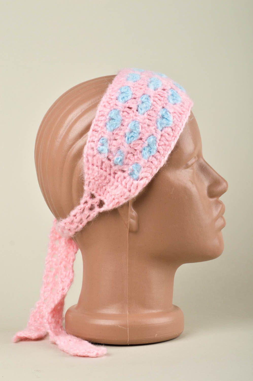 Вязаная повязка на голову для девочки (36 фото детские) 8