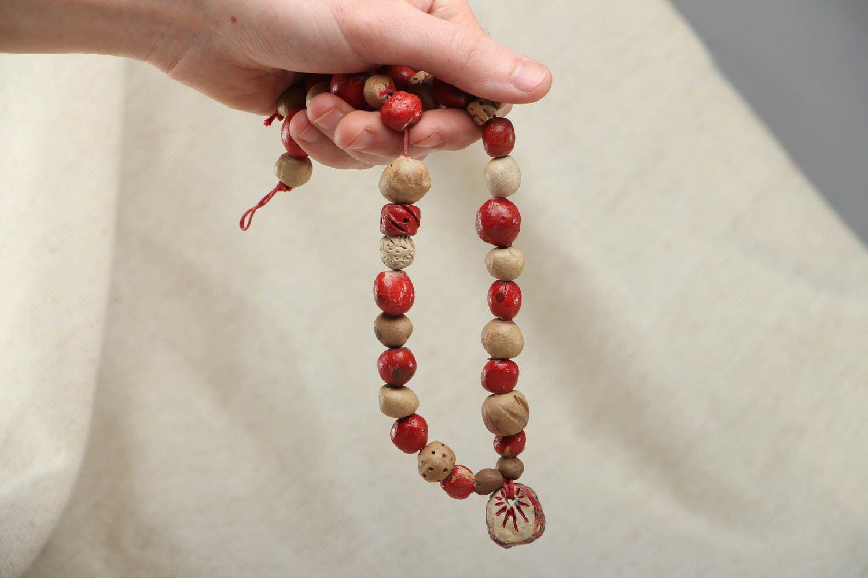 Ethnic bead necklace photo 4