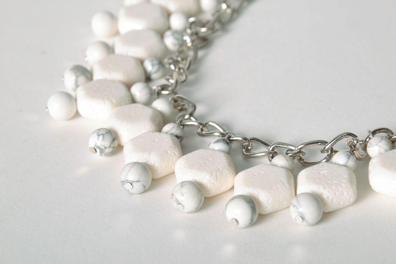 Halskette aus Kalmückenachat und Koralle foto 4