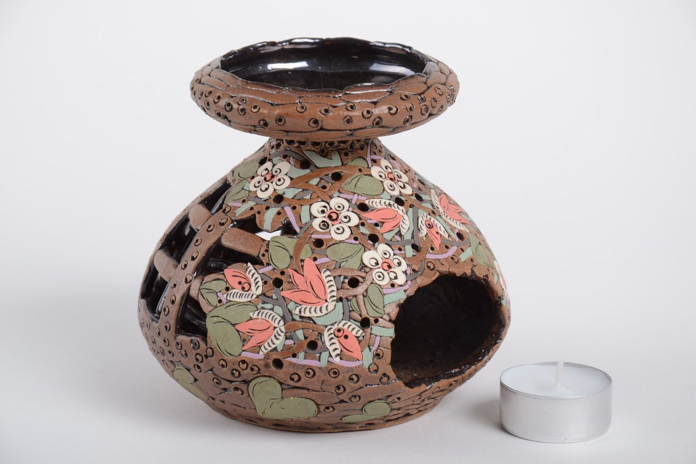 Handmade carved designer candlestick stylish aroma lamp ceramic candlestick photo 5