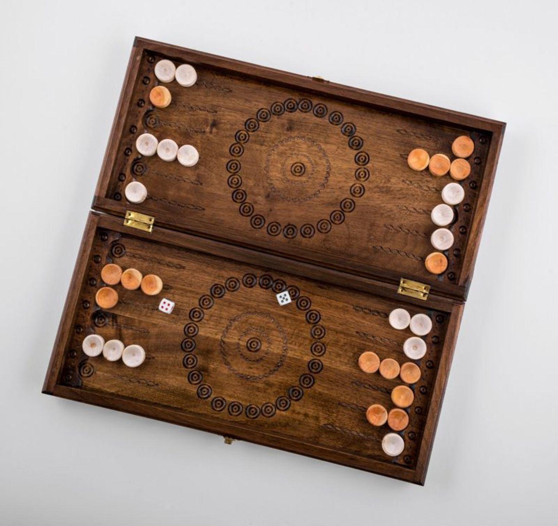 Wooden backgammon photo 1