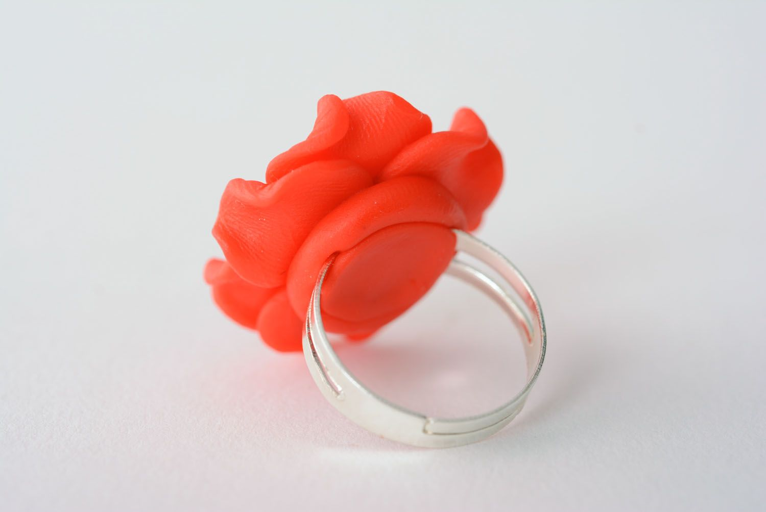 Polymer clay flower ring photo 3