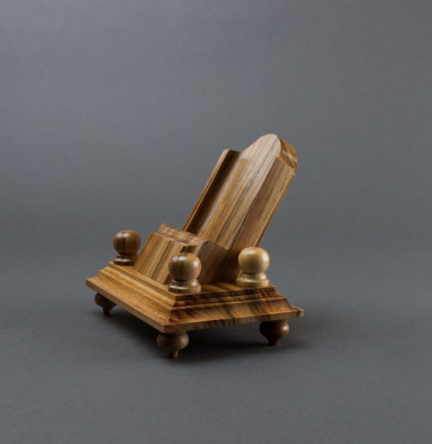 Wooden phone stand photo 5