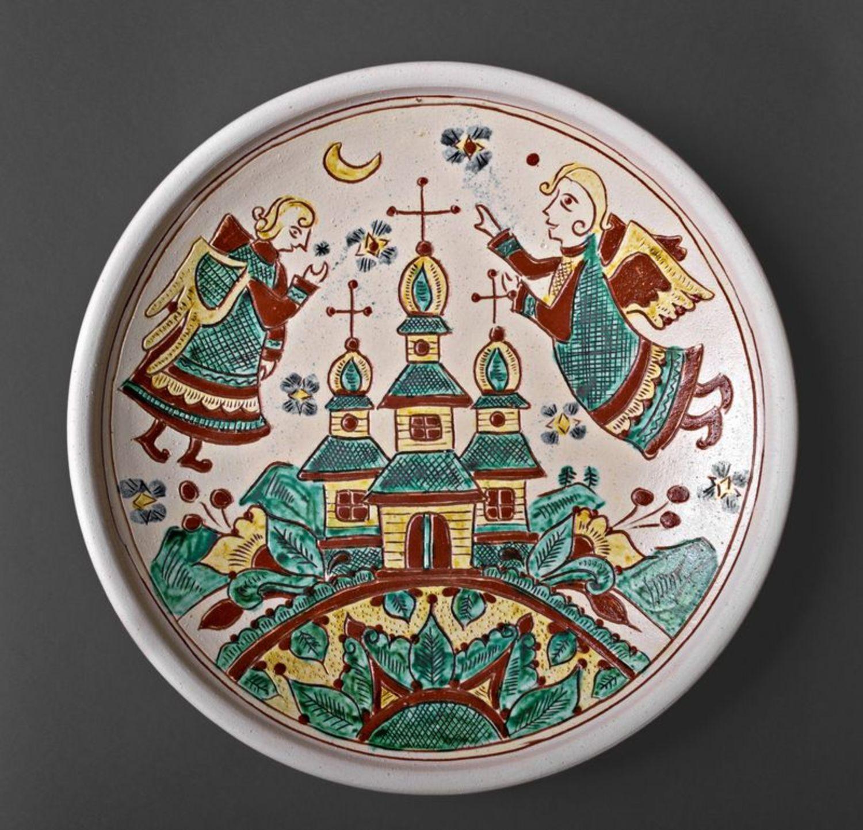 Decorative clay plate photo 4