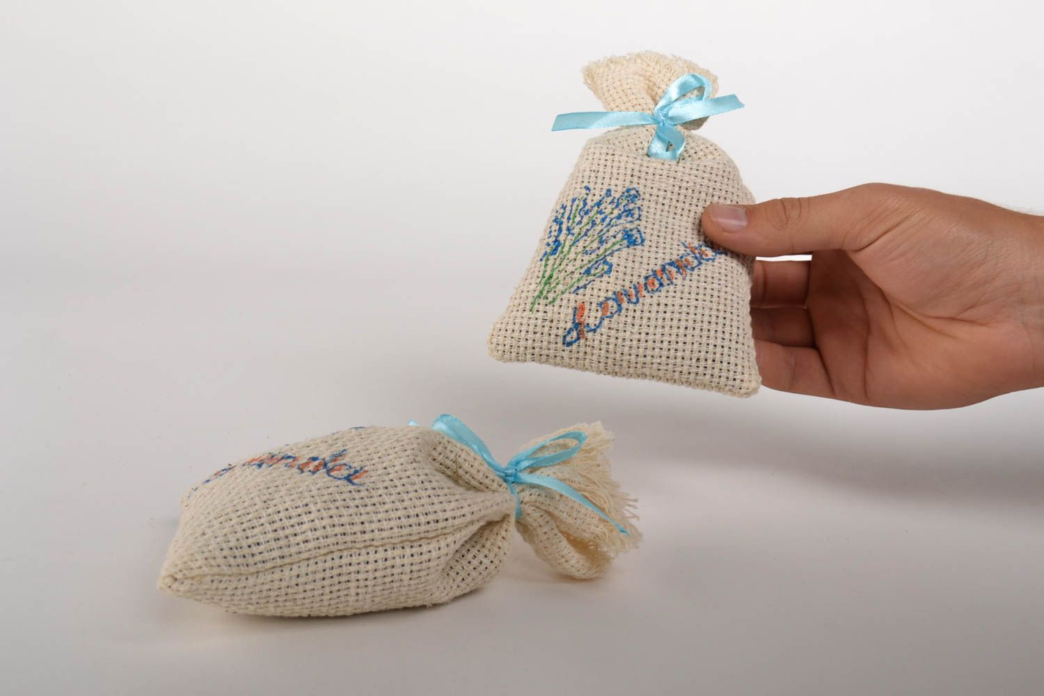 Handmade sachet bag with herbs home design aromatherapy at home small gifts photo 5