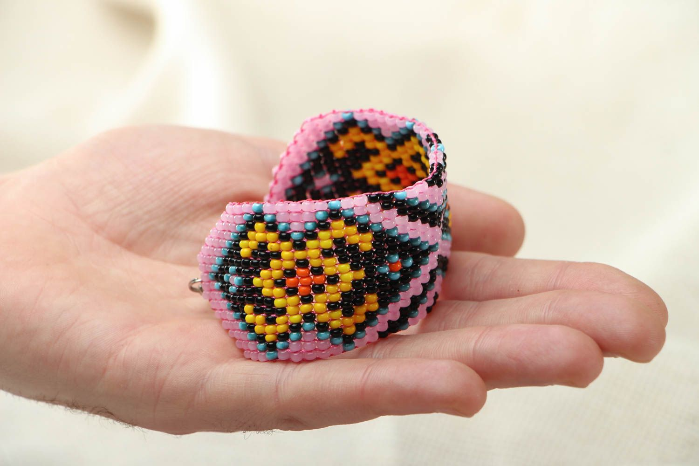 Wide beaded bracelet photo 3