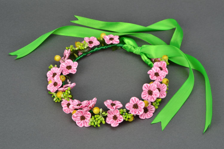 канзаши весенние цветы фото зеленоватого