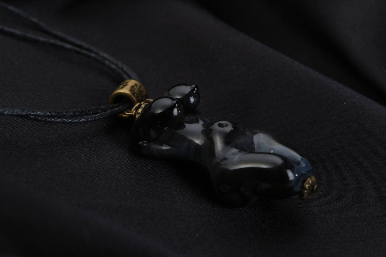 Glass pendant Dark Goddess photo 3