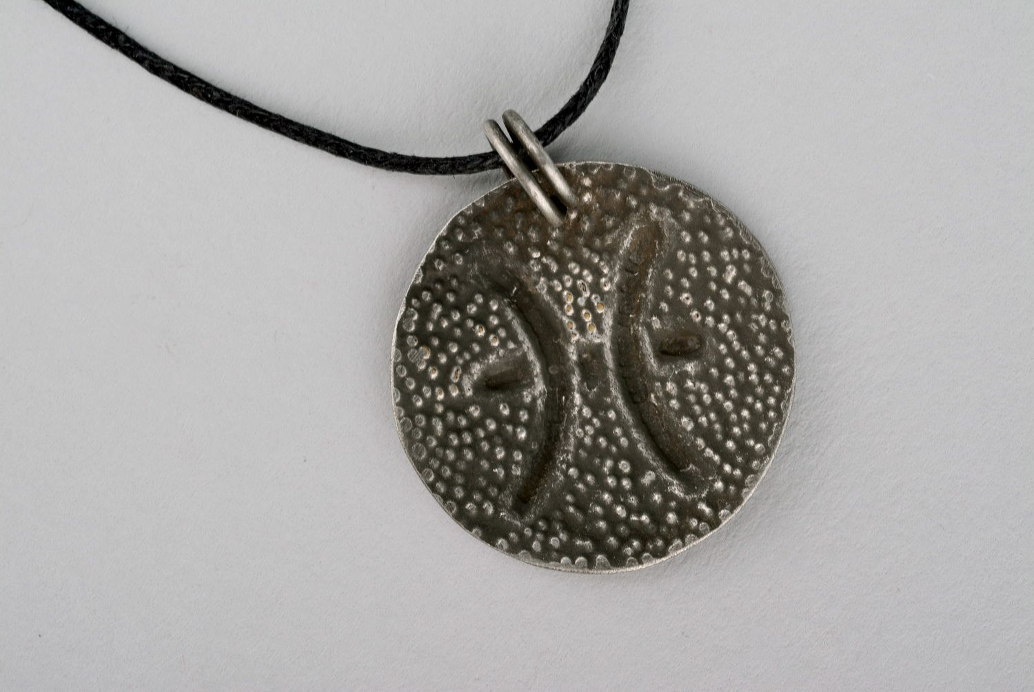 Pendant made of brass with silvering Pisces photo 2