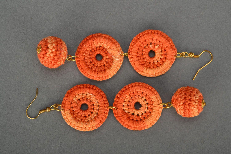 Long orange earrings photo 3