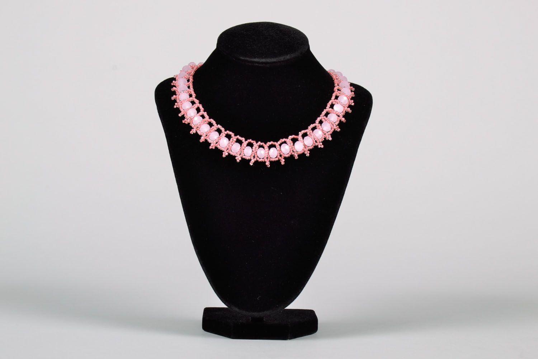 Плетеное ожерелье из бисера фото 2