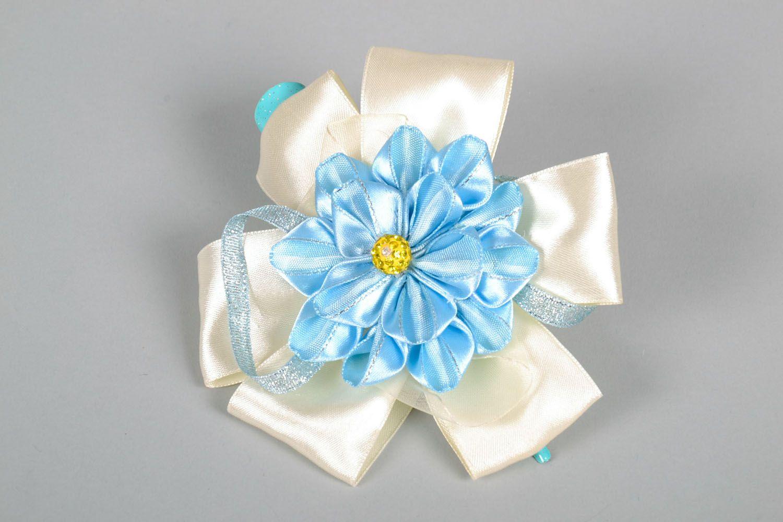 Haarspange aus Stoff mit Blumen foto 3