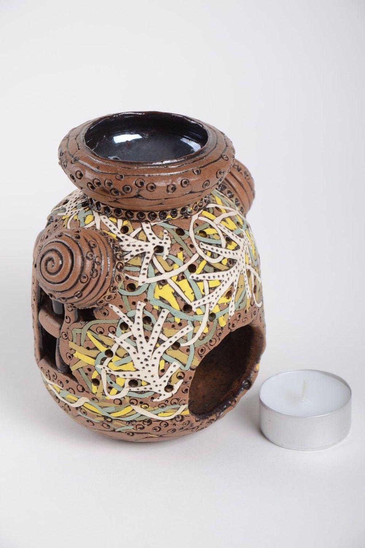Handmade beautiful candlestick unusual clay candlestick stylish home decor photo 5