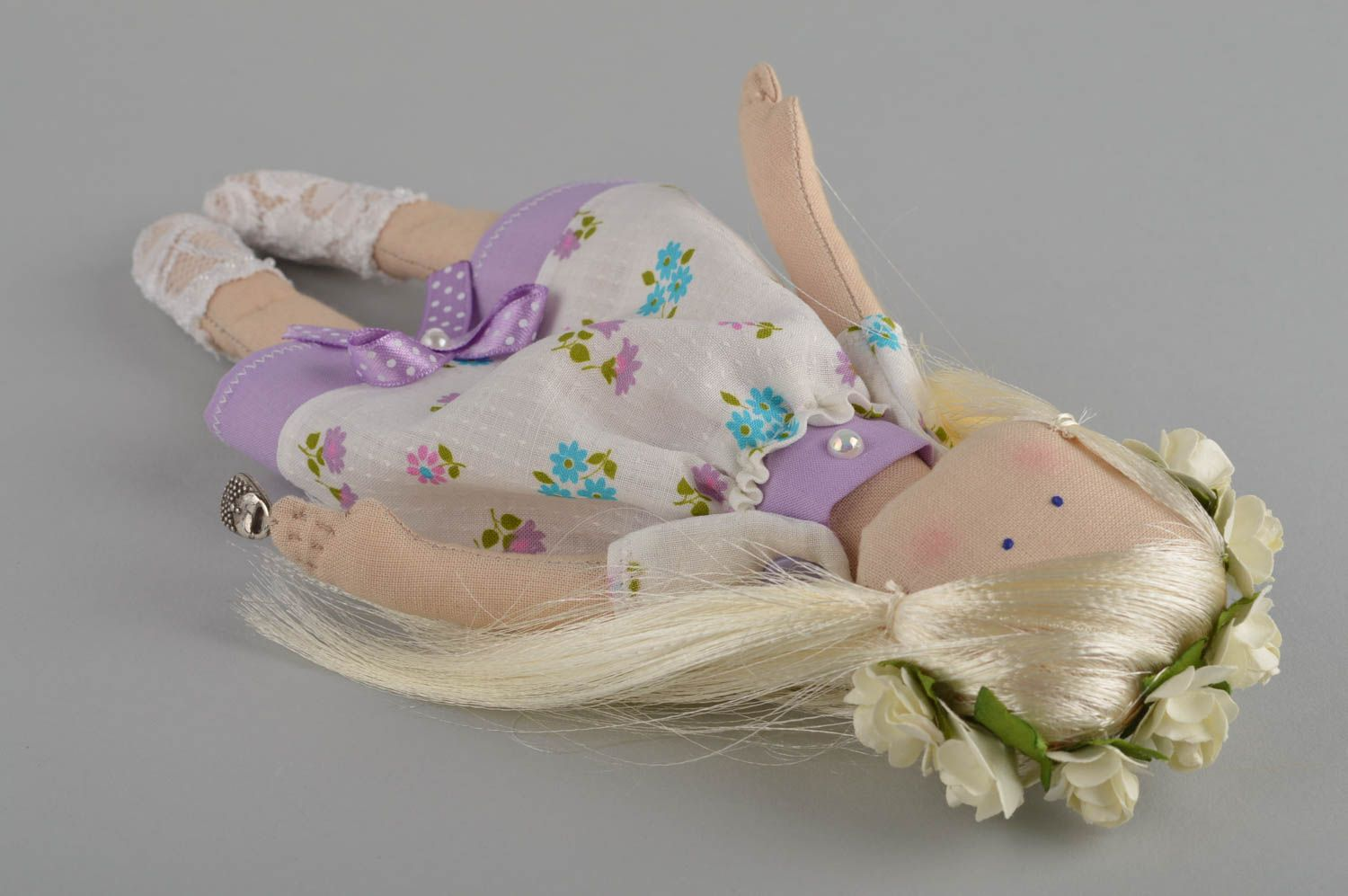 Soft doll handmade girl doll homemade decorations souvenir ideas gifts for her photo 3