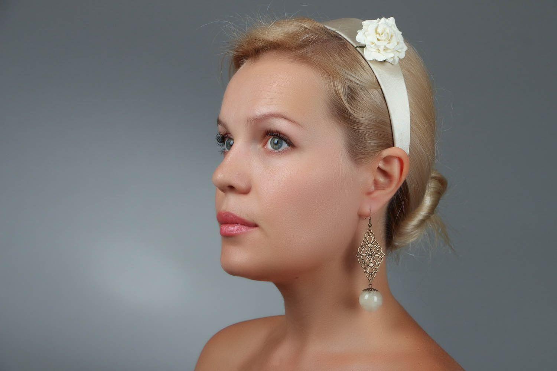 Long Earrings with Dandelions photo 5