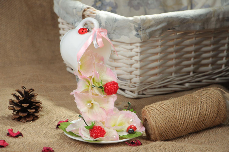 Handmade flower cup photo 5