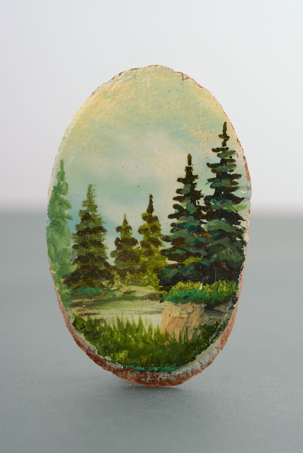 Wooden fridge magnet Firs photo 4