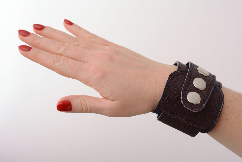 Homemade leather bracelet photo 1