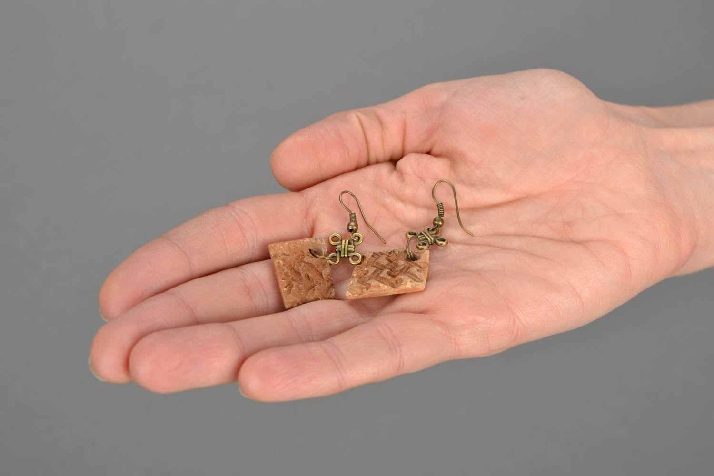 Square earrings photo 2