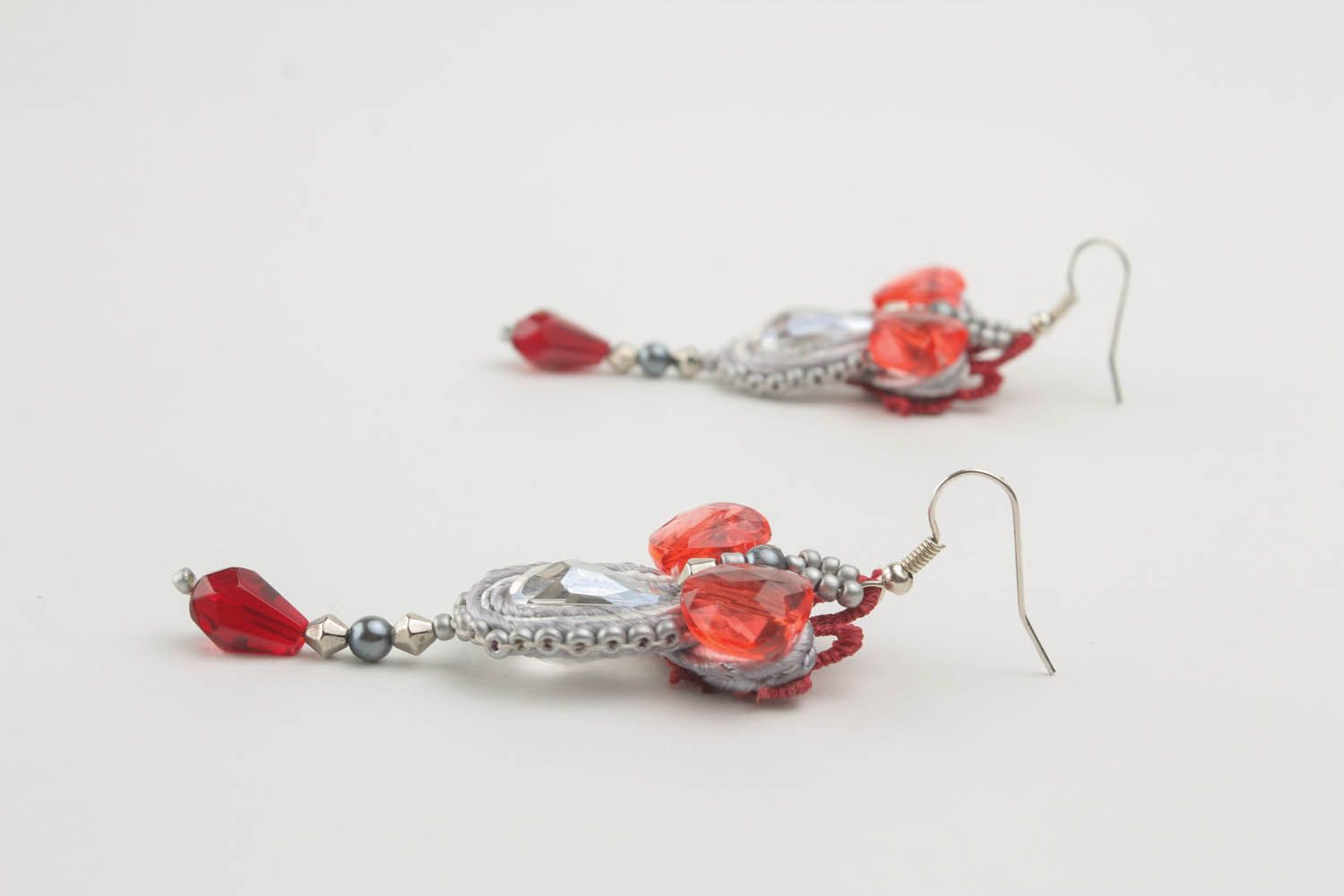Long soutache earrings photo 3