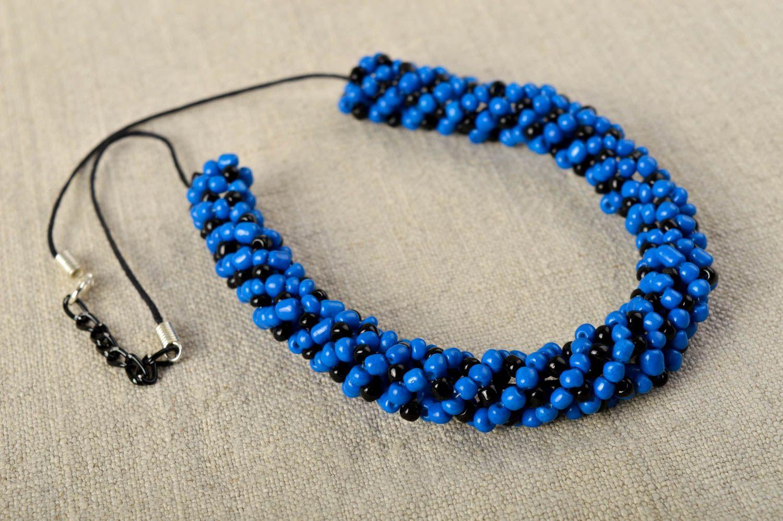 67845605cd13 collares de abalorios Collar de abalorios de color azul bisutería artesanal  regalo para mujer - MADEheart