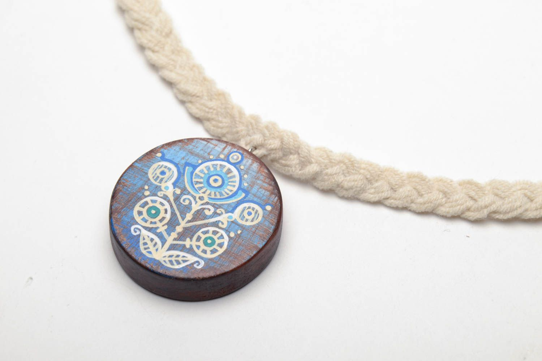 Homemade wooden pendant photo 3