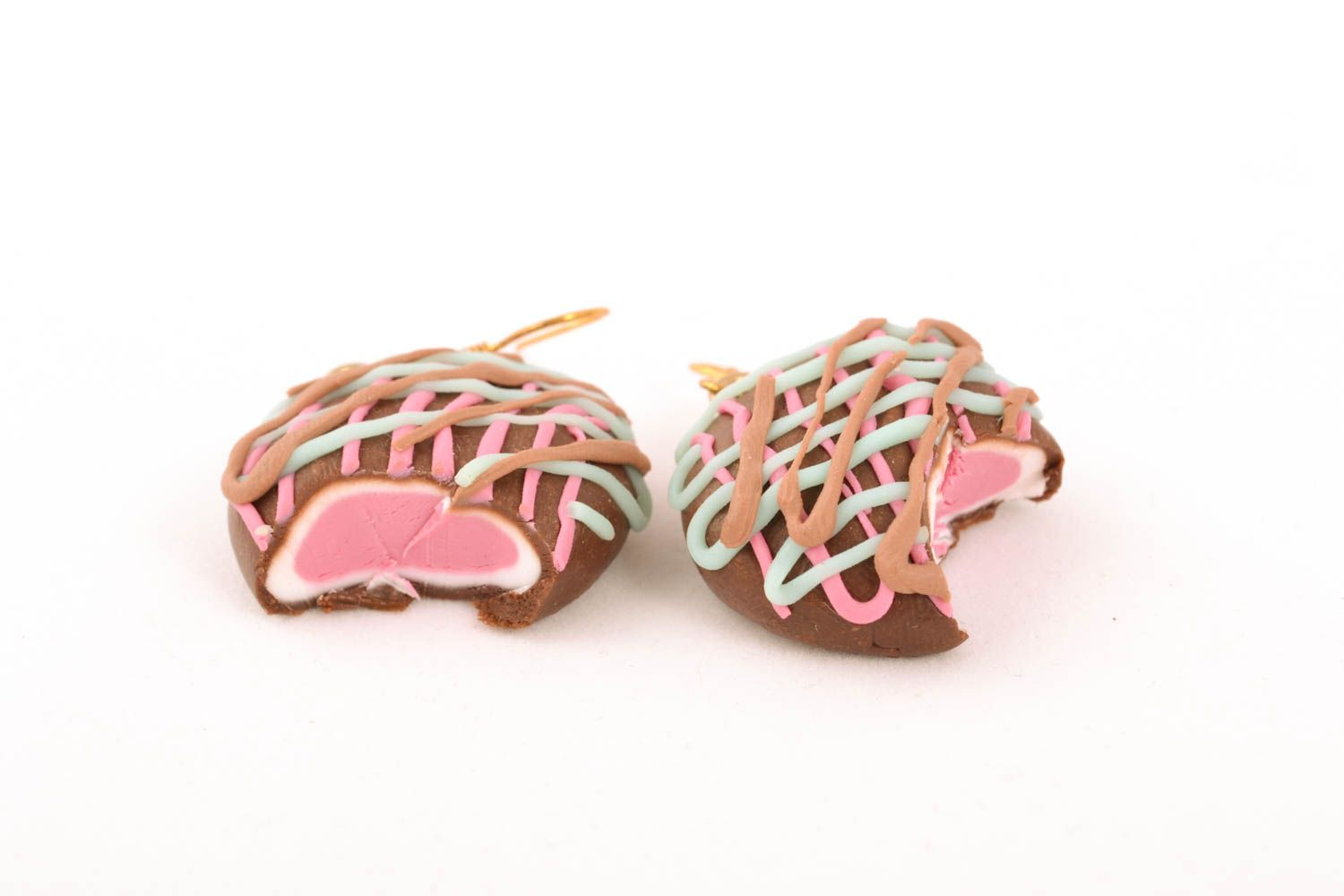 Polymer clay earrings Sweets photo 2