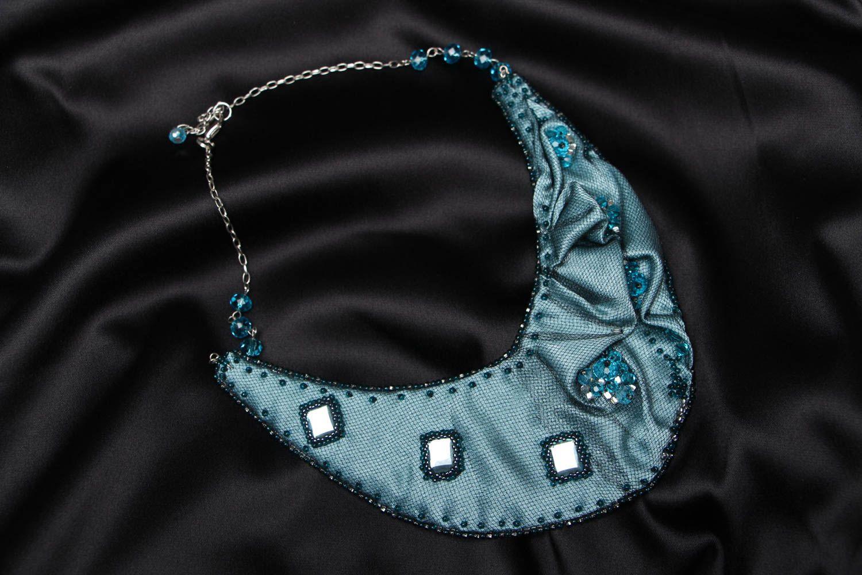 Handmade fabric necklace Rain Lover photo 1