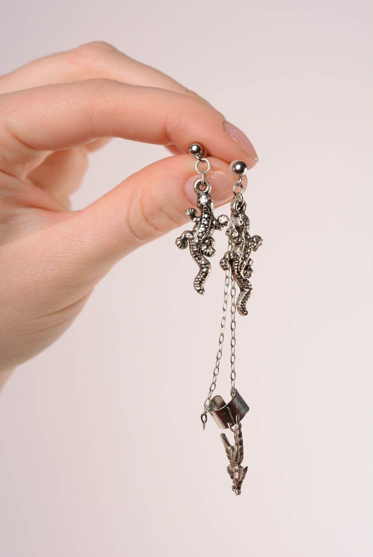 Steel cuff earrings Forest Kingdom photo 4