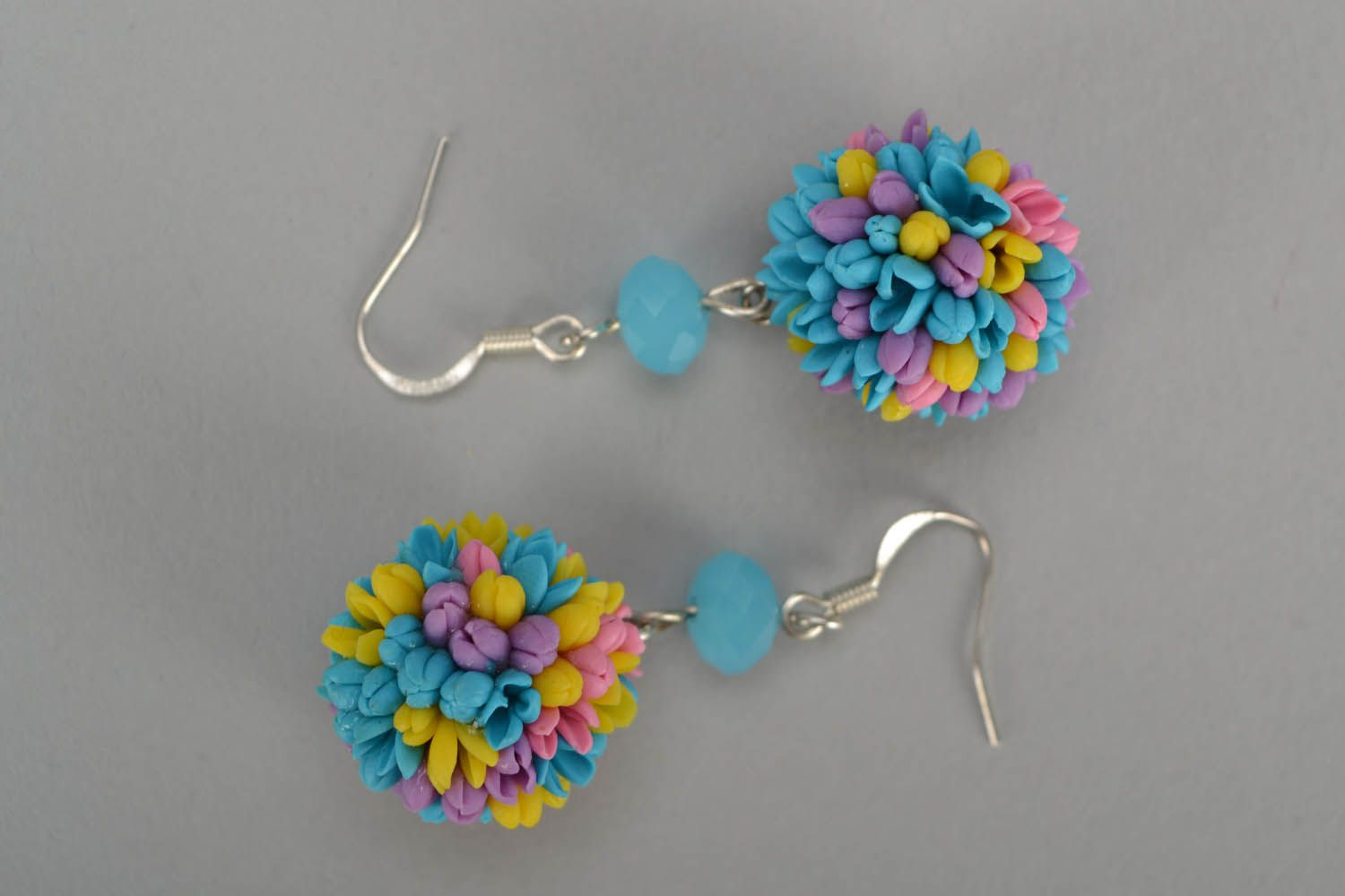 Earrings made of cold porcelain Field Bouquet photo 3
