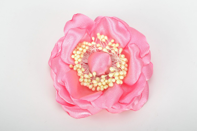 Flower brooch pin Pink Flower photo 1