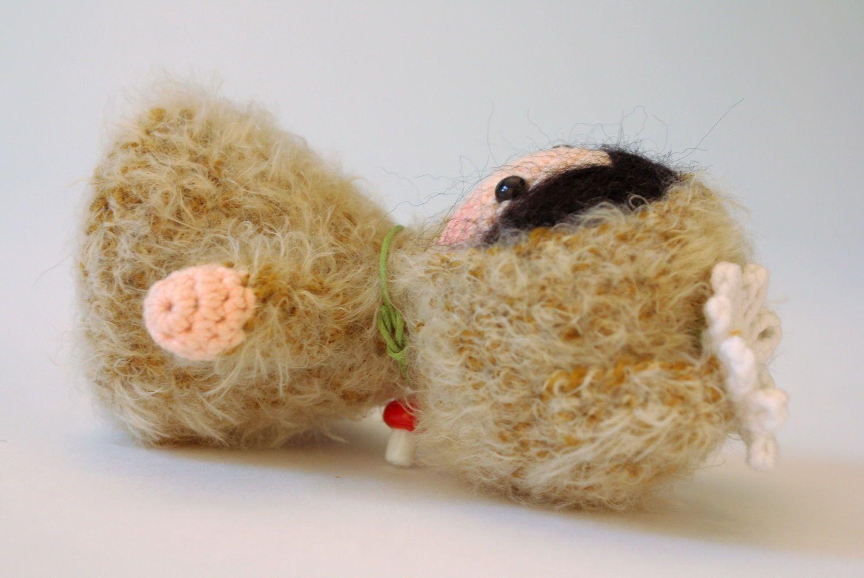Игрушка вязаная Девочка-мишка фото 4