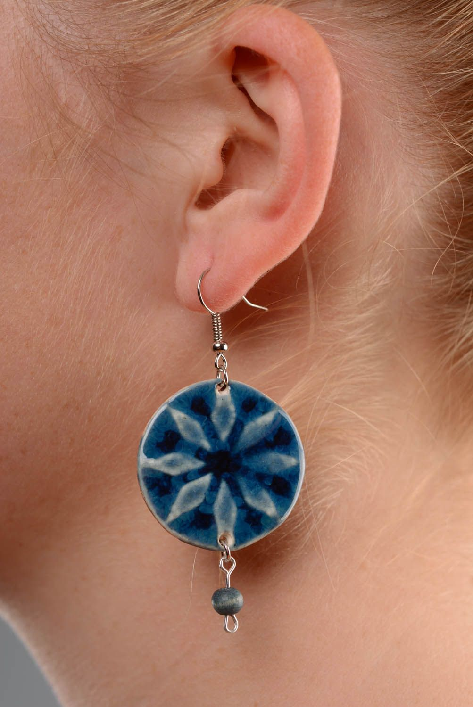 Keramik Ohrringe-Amulett Frauen Alatyr foto 2