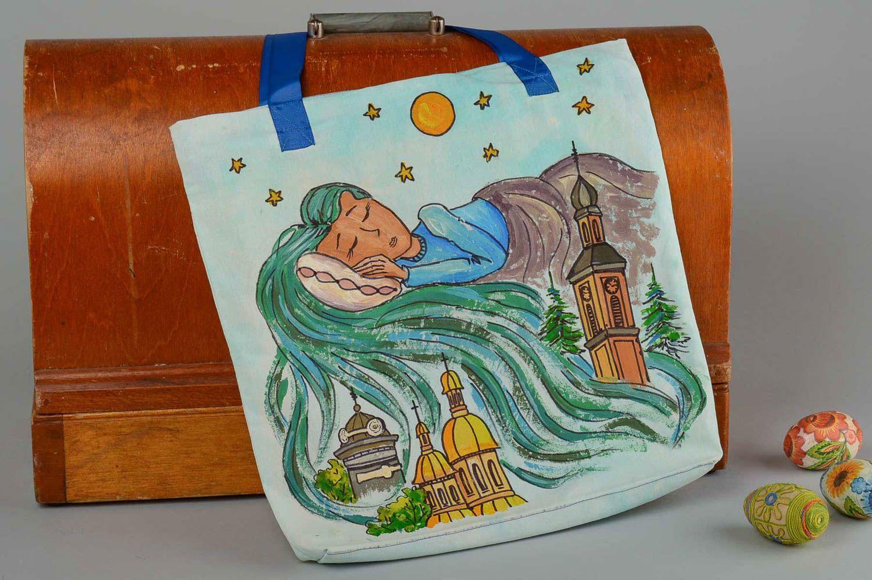 Designer bag handmade shoulder bag for women shoulder bag with painting photo 1