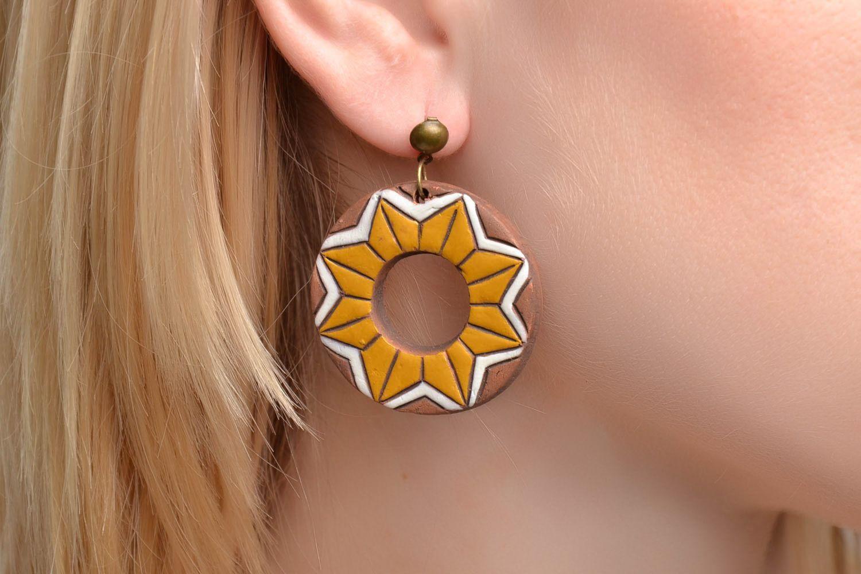 Ceramic earrings photo 2