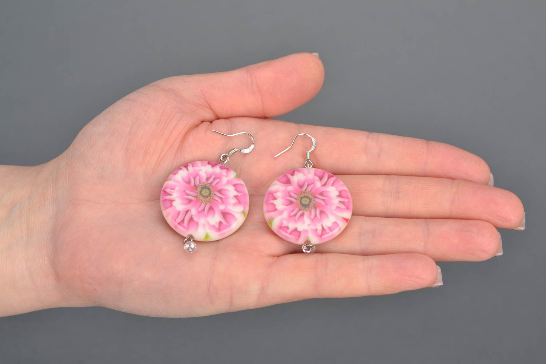 Handgemachte Ohrringe aus Glasperlen foto 2