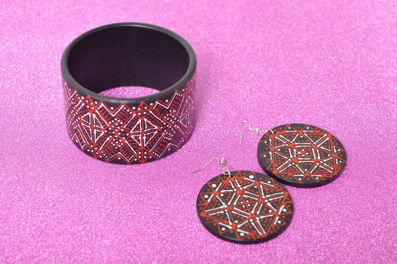 Handmade lovely earrings stylish cute jewelry unusual designer bracelet  photo 1