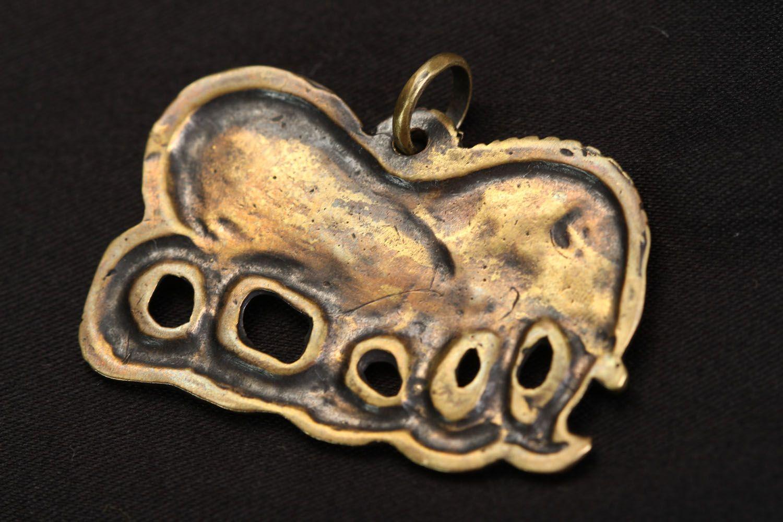 Handmade bronze pendant Scythian Wild Boar photo 3