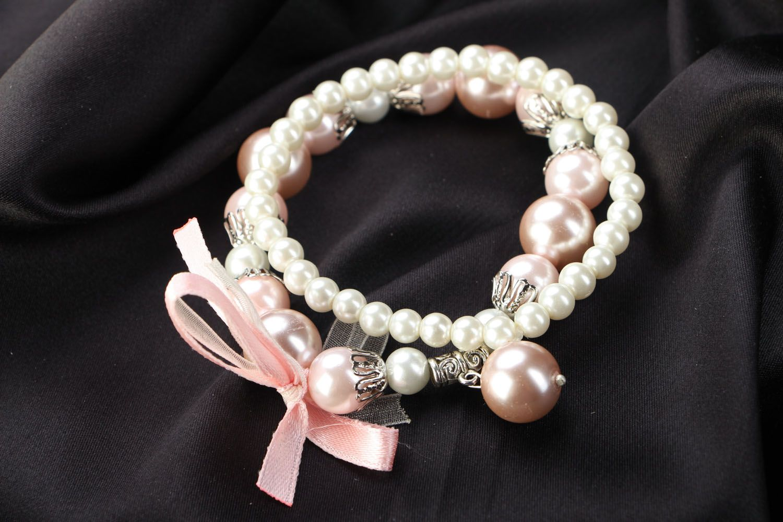 Set of pearl bracelets photo 1