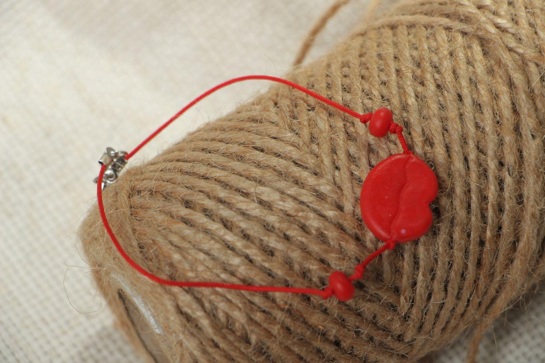 Bracelet avec breloque en pâte polymère  photo 4