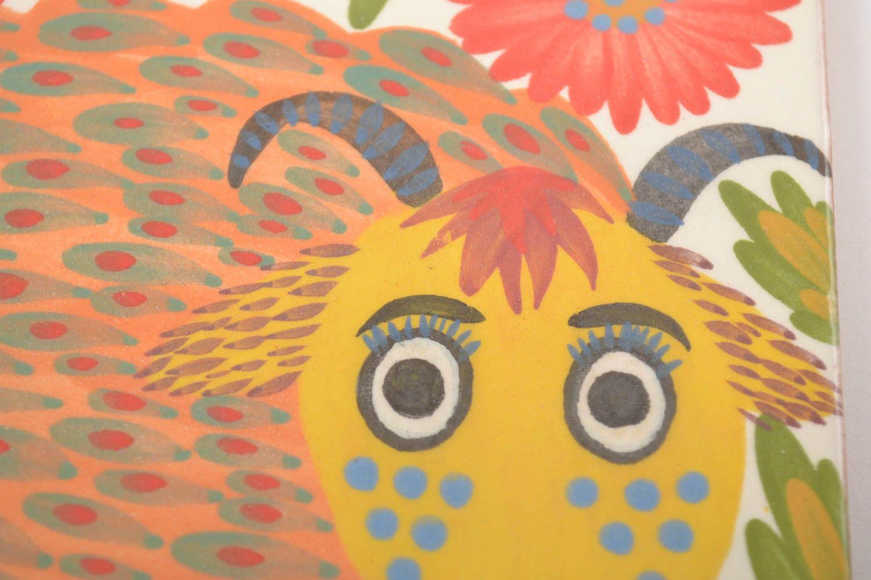 Madeheart azulejo de cer mica cuadrado con dibujo hecho - Azulejos con dibujos ...
