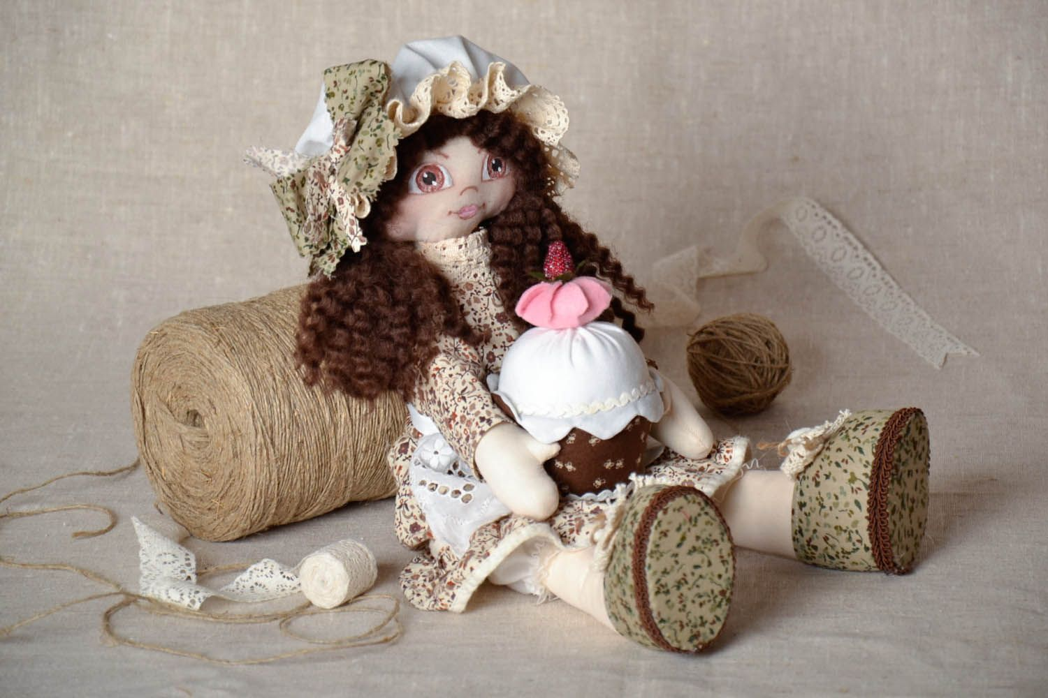 Decorative doll in a hat photo 1