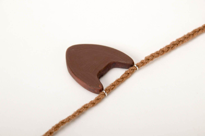 Handmade pendant wooden jewelry unusual accessory gift ideas designer bijouterie photo 4
