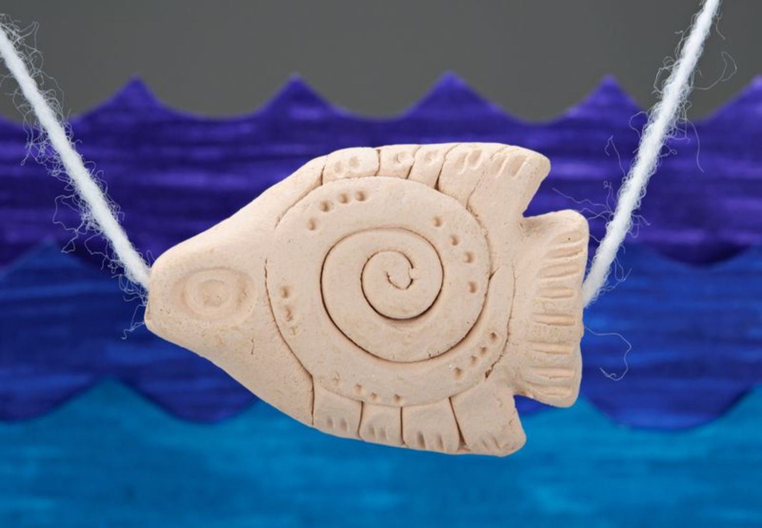 Ceramic pendant Fish photo 1